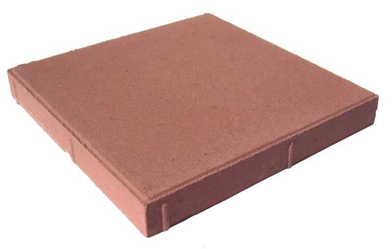 Тротуарная плитка Квадрат красный 400x400x60мм