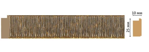 Багет Decomaster 102-17 (размер 25х10х2400)