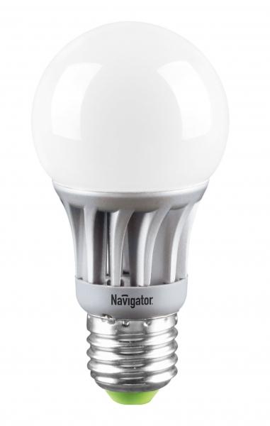 Лампа светодиодная Navigator A55-5-230-2.7k-E27 теплый свет (5Вт, 230В)