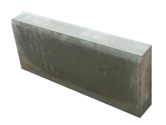 Бордюр садовый серый, разм. 500х200х80мм