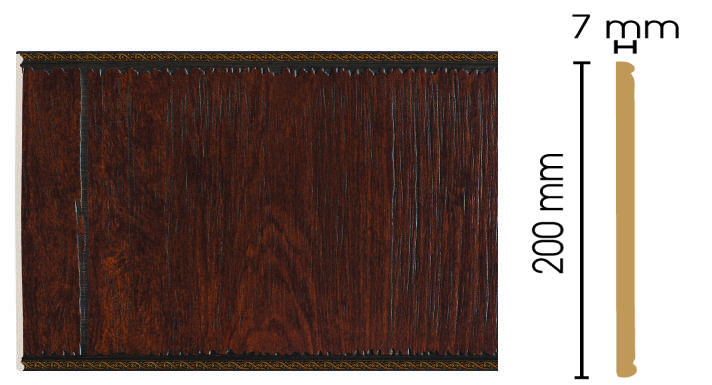 Цветная панель Decomaster С20-2 (200х7х2400)