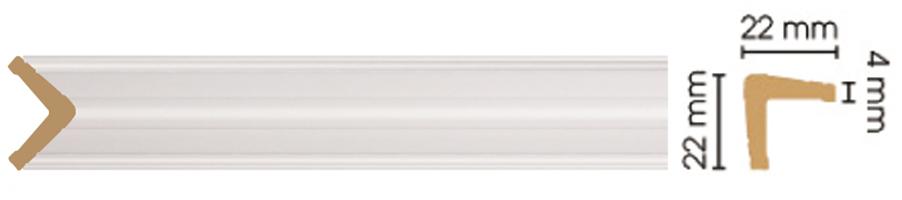 Уголок Decomaster 116S-115 (размер 22х22х2400)
