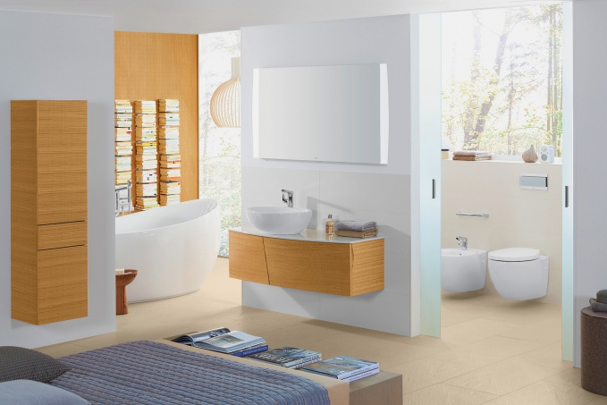 Биде напольное Villeroy and Boch Aveo plus 7421 00R1 alpin