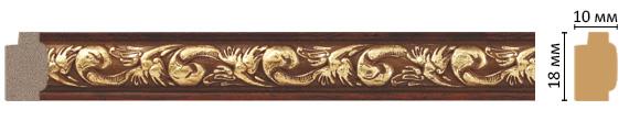 Багет Decomaster 158-1084 (размер 18х10х2400)
