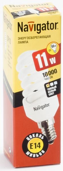 Лампа э/сб Navigator NСL-SF10-11-827-E14 теплый (11Вт)