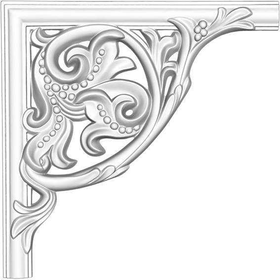 Угол декоративный Decomaster DP 8032 A  (к молдингу DT 8032)