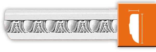 Молдинг с орнаментом Decomaster 98202 гибкий (размер 15х50х2400)