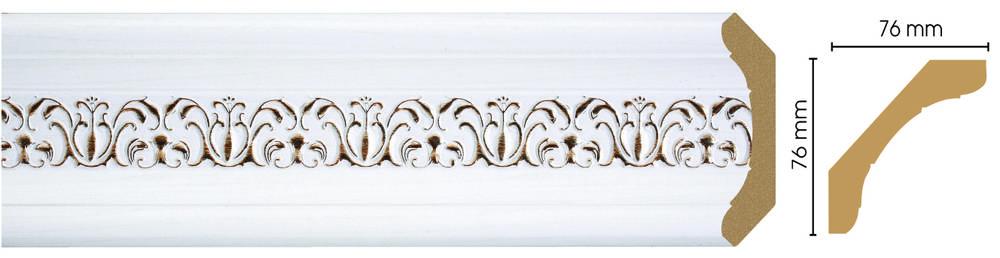 Потолочный плинтус (карниз) Decomaster 169-118 (размер 76х76х2400)