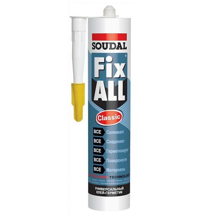 Клей-герметик гибридный Soudal Fix All Classic белый 290 мл