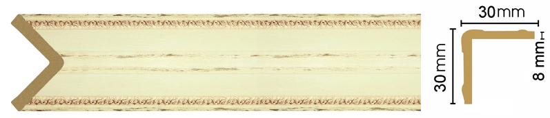 Уголок Decomaster 116-1028 (размер 30х30х2400)