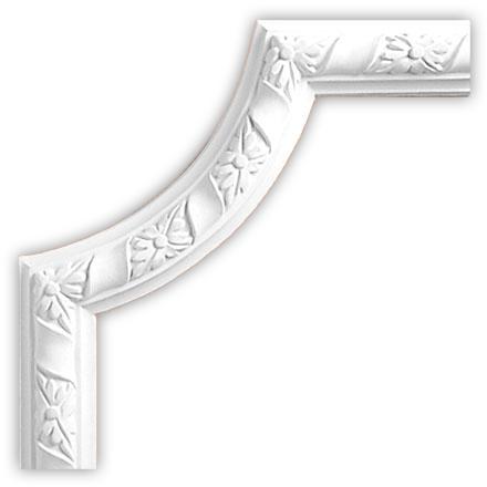 Угол декоративный Decomaster DP 8051 B (размер 230х230х25)
