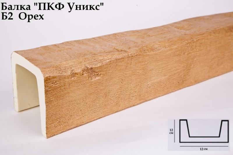 Декоративная балка Уникс (Орех) 120х120х3000