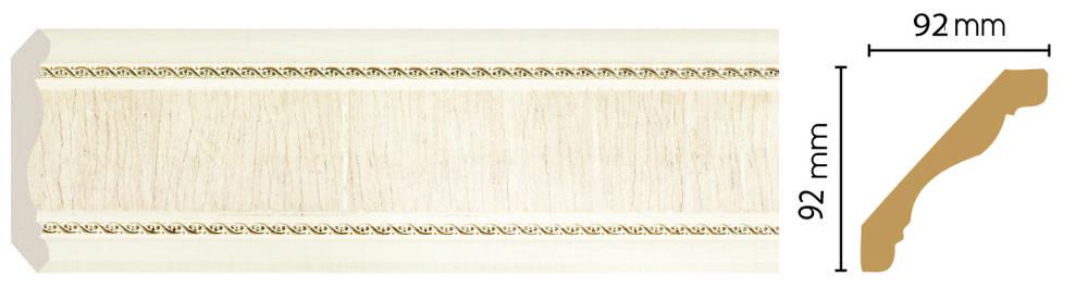 Цветной плинтус Decomaster 171-6 (92х92х2400)