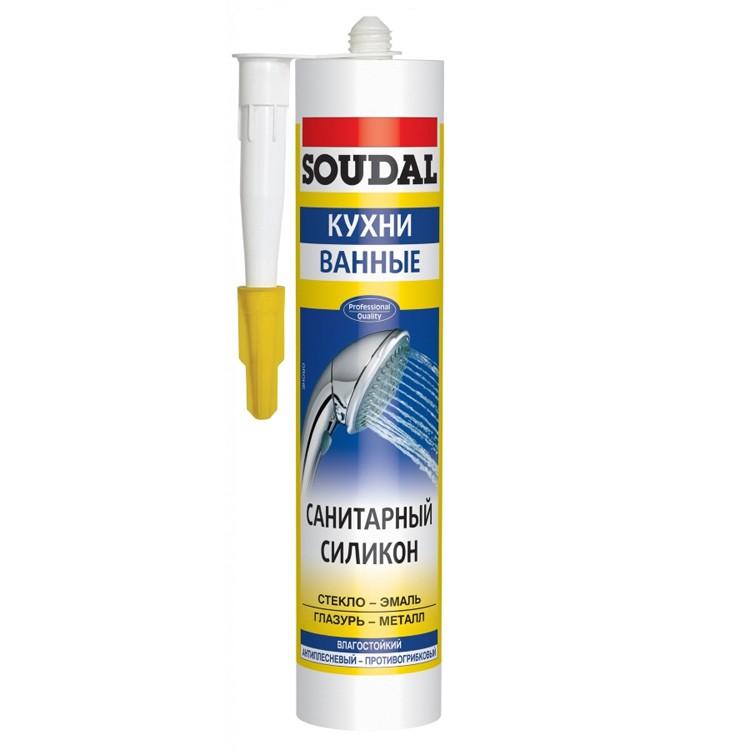 Герметик силиконовый Soudal санитарный нейтральный 300 мл