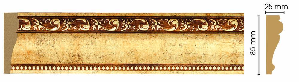 Decomaster Молдинг Decomaster 152-552 (размер 85х25х2400) молдинг decomaster античное золото цвет 552 85х25х2400 мм 152 552