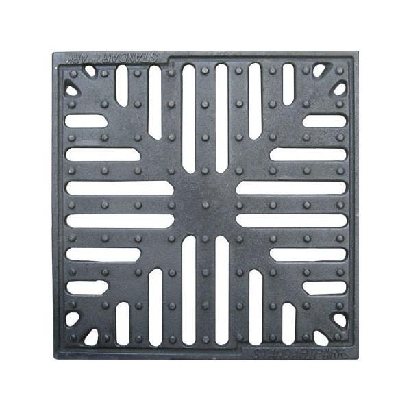 Решетка пластиковая к дождеприемнику 30х30 черная