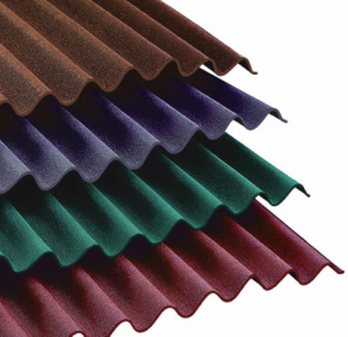 Кровельный лист Ондулин 2000х950 мм, коричневый