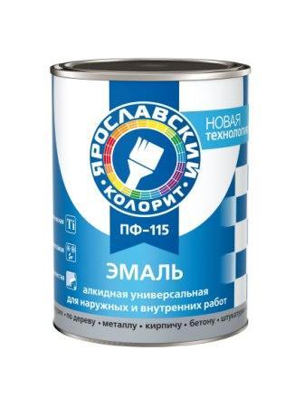 Эмаль ПФ-115 белая матовая, банка 1 кг