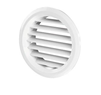 Решетка пластиковая белая, диам.150