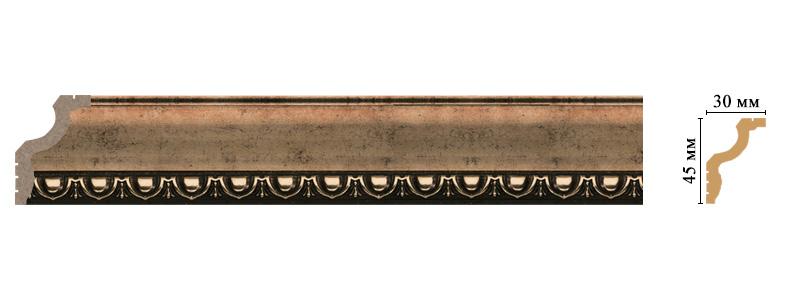 Цветной карниз Decomaster 148D-57 (размер 45х30х2400)