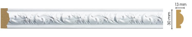Молдинг Decomaster 157-115 (размер 30х13х2400)