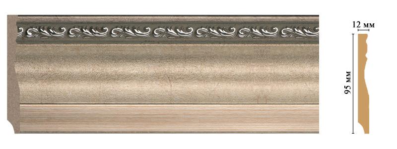 Цветной плинтус Decomaster 153-59 (размер 95х12х2400)