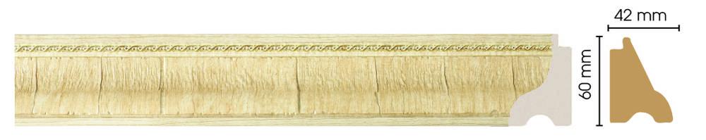Цветной плинтус напольный Decomaster 175-5 (размер 60х42х2900)