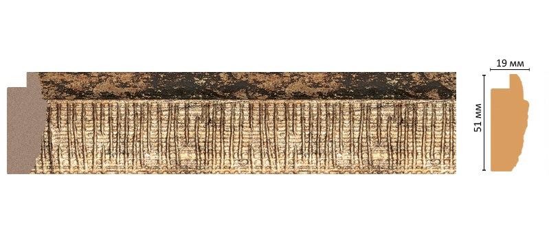 Багет Decomaster 686M-566 (размер 51х19х2900)