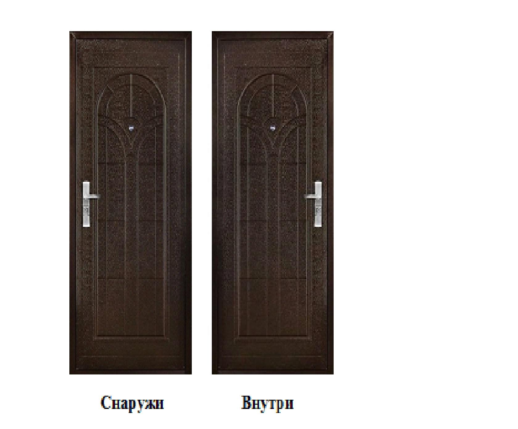 Дверь стальная 2050х960х42, модель К-01