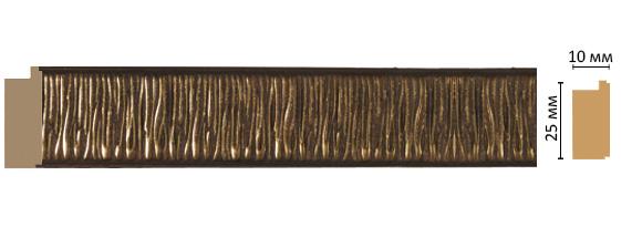 Багет Decomaster 102-51 (размер 25х10х2400)