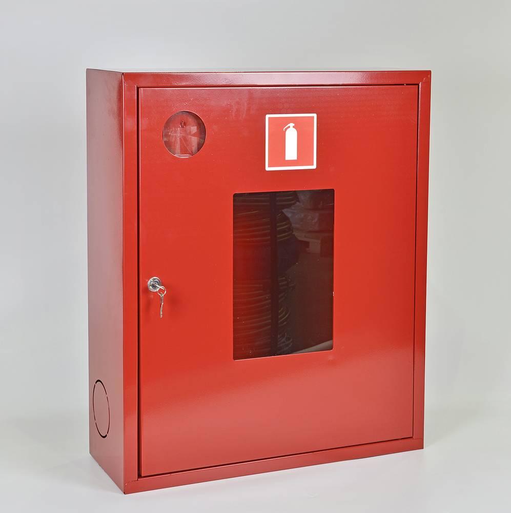 Шкаф для огнетушителя ШПО-113НОК навесной открытый красный