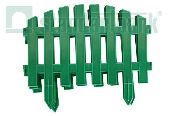 Забор декоративный №2 ЗД-3000.280-ПП пластиковый  зеленый 8302-З