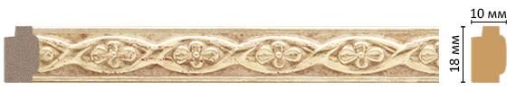 Багет Decomaster 158-933 (размер 18х10х2400)