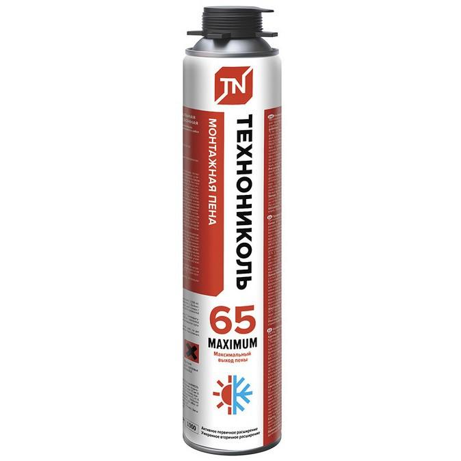 Пена монтажная профессиональная Технониколь 65 Maximum всесезонная