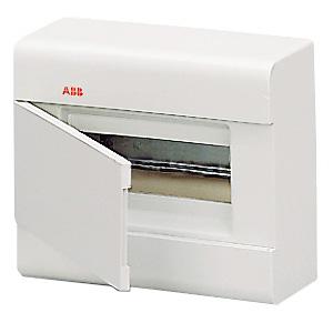 Бокс ABB настенный 8м с дв. белый SL2438