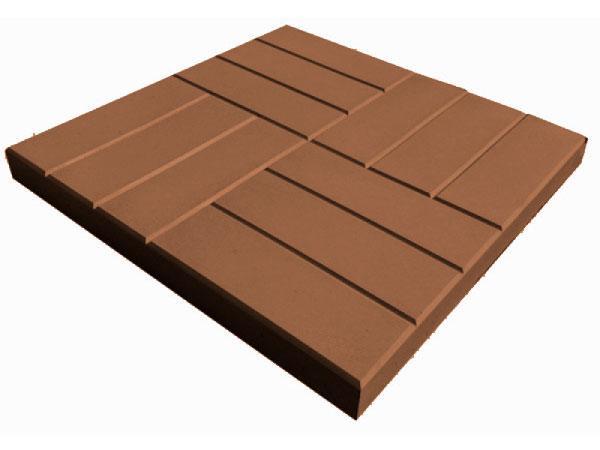 Тротуарная плитка 12 кирпичей коричневый