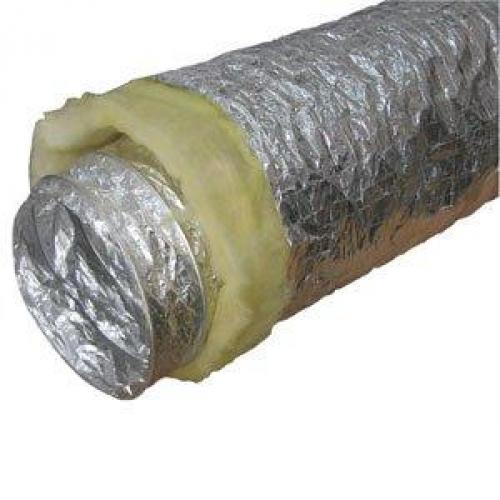 Воздуховод гибкий теплозвукоизолированный, диам.102мм (длина 10м)