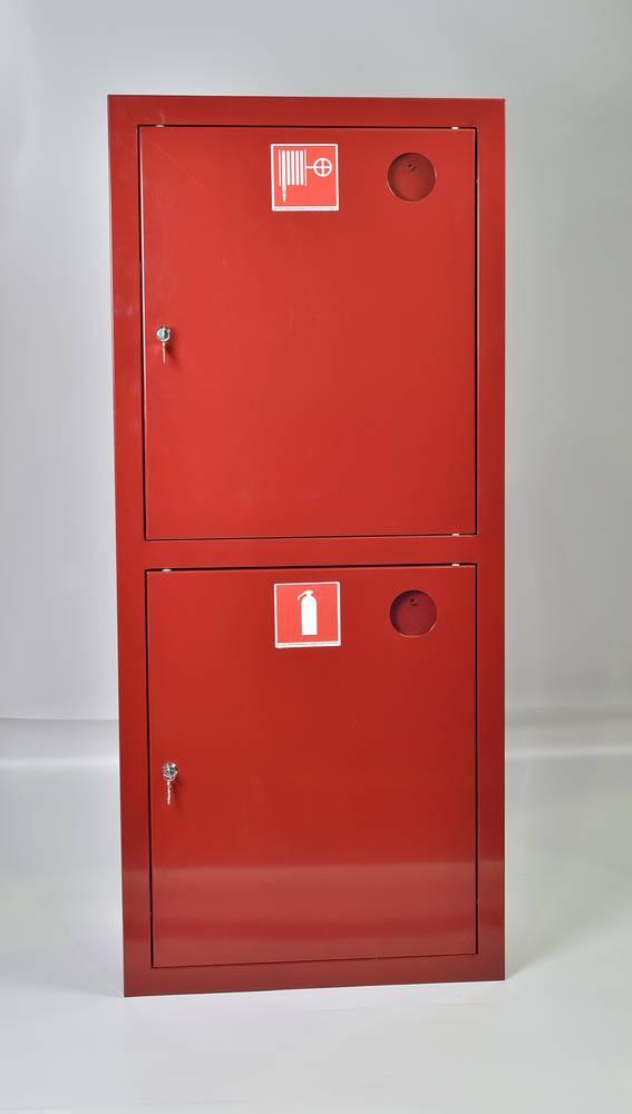 Шкаф пожарный ШПК-320ВЗК встраиваемый закрытый красный