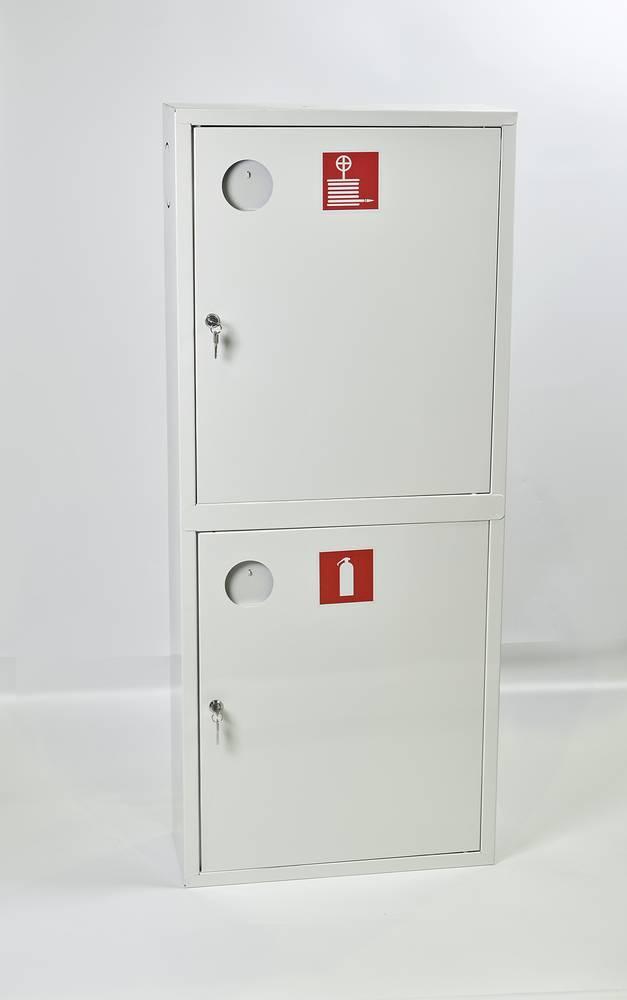 Шкаф пожарный ШПК-320НЗБ навесной закрытый белый