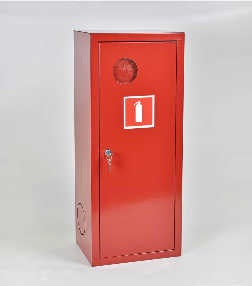Шкаф для огнетушителя ШПО-102НЗК навесной закрытый красный