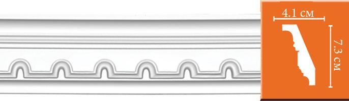 Плинтус с орнаментом Decomaster 95112  (размер  73х41х2400)