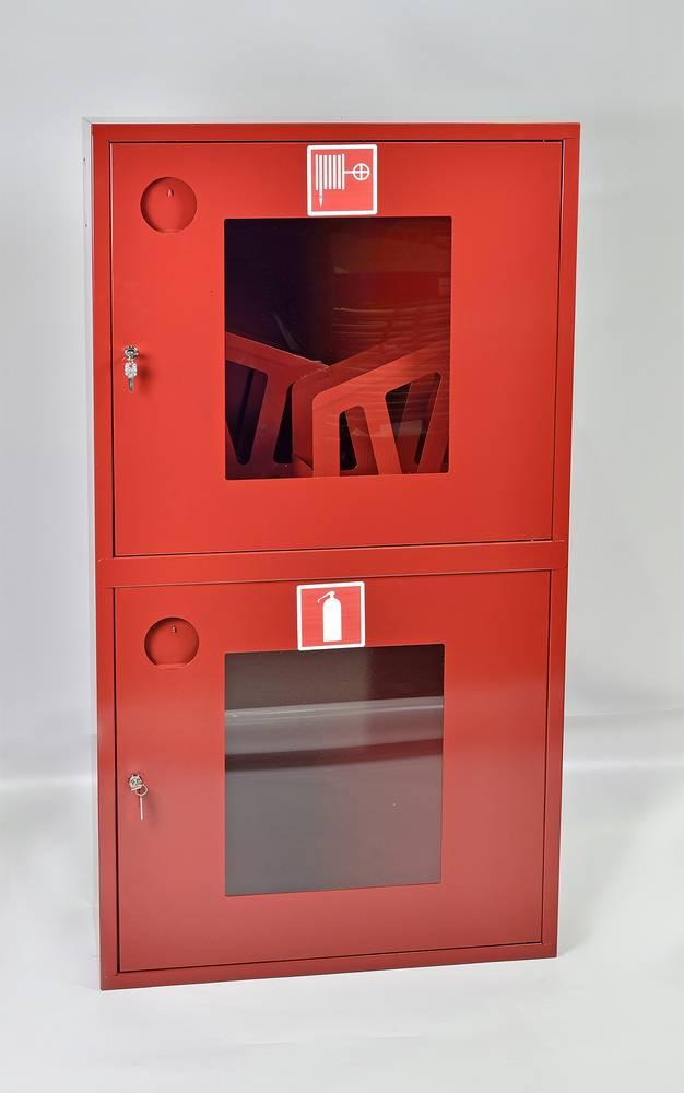 Шкаф пожарный Пульс ШПК-320-12НОК навесной открытый красный