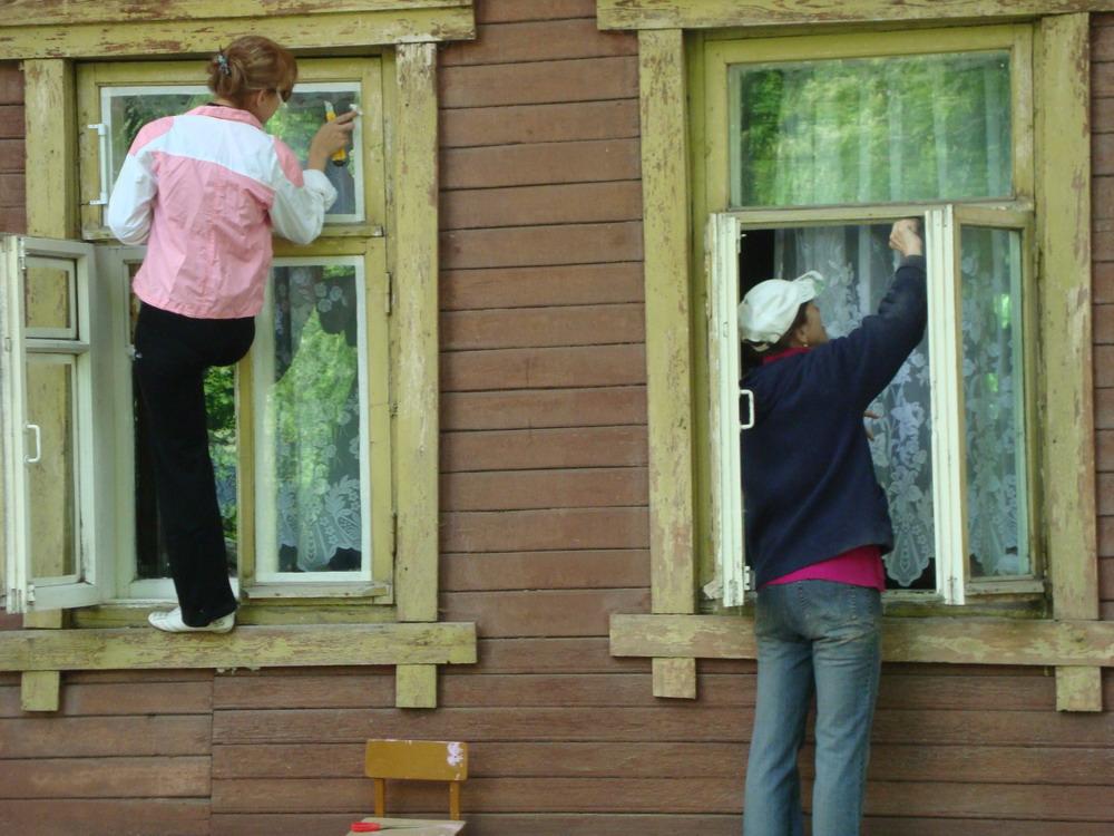 Окна деревянные утеплить своими руками фото