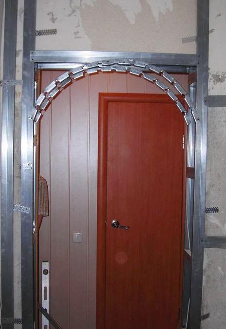 арка на кухне своими руками из гипсокартона фото