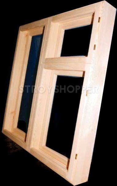 Оконная деревянная рама (размер 1х1.2м) купить в Москве - Stroyshopper.ru