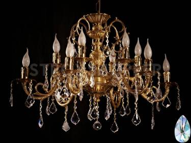 Люстра Brizzi 8888/6+6 AB Tear drop crystal