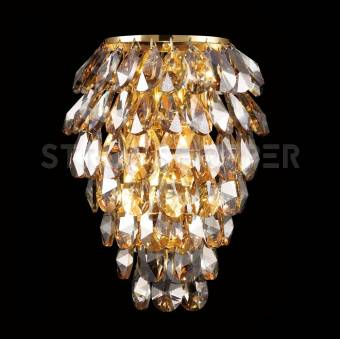 Бра Crystal Lux CHARME AP2+2 LED GOLD/AMBER